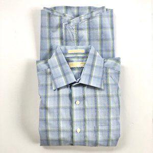 Michael Kors Small Check Button Down Shirt